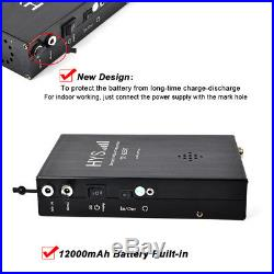 25W Backpackable Portable/Car Mobile 2 Way Radio Transceiver 12000mAh Battery