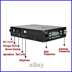 25W VHF/UHF Dual Band PACKABLE Ham Radio Transceiver 12000 mAh Built-in Battery