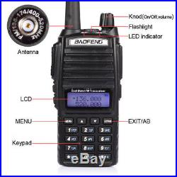 5x Baofeng UV-82L 2000mAh Transceiver Ham Two-way Radio Walkie Talkie + Speaker