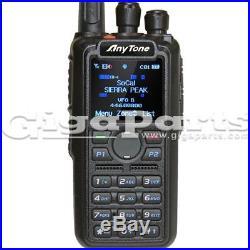 Anytone AT-D878UV VHF/UHF 140-174/400-480 MHz DMR Handheld Transceiver with GPS