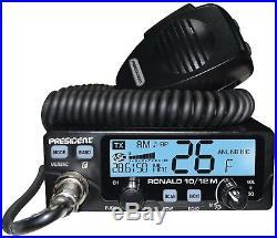 Brand New PRESIDENT RONALD 10 Meter Amateur Ham Radio Transceiver