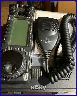 CB HAM DX amatuer radio ICOM IC-706 HF/VHF/UHF transceiver w bracket cable