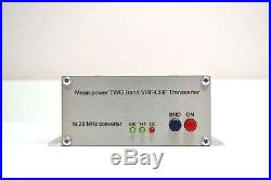 Dual Band 144 + 432 to 28 MHz 12Watts ASSEMBLED TRANSVERTER VHF UHF 28mhz