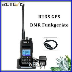 GPS Dual Band Funkgeräte Retevis RT3S UHF/VHF Walkie Talkie Digitale TDMA VOX