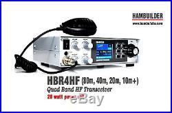 HBR4HF Quad Band HF Transceiver (80m, 40m, 20m, 10m+)