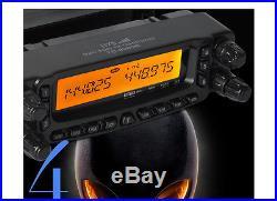 Ham FM Transceiver radio 27/50/144/430Mhz Quad Band HF&VHF&UHF 800 Channels US