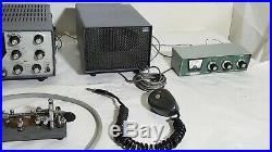 Henry Tempo One Transceiver Vibroplex/Heathkit/Turner Mic/Lafayette Ham Radio