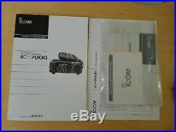ICOM IC-7000 HF, VHF, UHF Transceiver with LDG AT-7000 Autotuner, 7 LCD Display