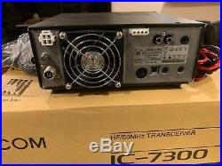 ICOM IC 7300 100W HF 50MHz ham radio transceiver touch screen