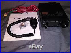 Icom IC-706 Ham Radio Transceiver with Mic, Power Cord, Manual, Orig. Box