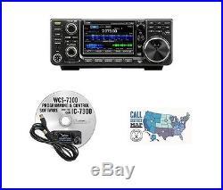 Icom IC-7300 HF/50MHz 100W Base Radio with RT Systems Programming Kit Bundle