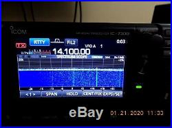 Icom IC-7300 HF / VHF Transceiver Perfect Condition Very few hours on the set