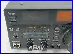 Icom IC-737 HF Ham Radio Transceiver with UT-30 Tone Encoder + FM Board SN 01501