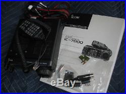 Icom Ic-7000 Transceiver Hf/6m/2m/70cm Receives 30khz-200mhz & 400mhz-470mhz