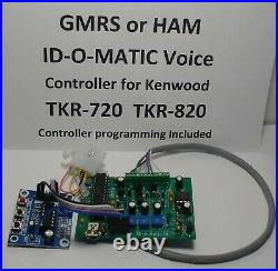 Kenwood TKR-720 TKR-820 GMRS HAM ID-O-Matic 4 VOICE ID Repeater Controller
