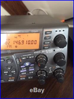 Kenwood TS-2000 HF/VHF/UHF Tranceiver with DRU -3A digital voice recorder