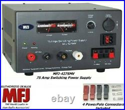 MFJ 4275MV 75 AMP Switching Power Supply With Meter, 4-16 Volts Adjustable NEW
