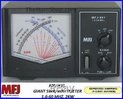 MFJ-891 Giant Cross Needle, Peak Reading, SWR/Wattmeter, 2000 Watts, 1.6-60MHz