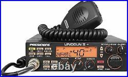 Newest PRESIDENT LINCOLN II+ PLUS Digital AM FM CW SSB 10/12m Ham RADIO 50 Watt