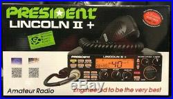 President Lincoln II Plus (V3) 10 and 12 Meter Digital Ham 50 Watt Radio New