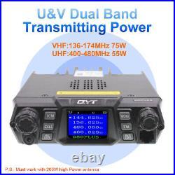 QYT 980plus Mobile Radio 75W U/V Vehicle Transceiver Quad Band Standby Car Radio