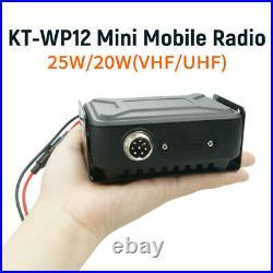 QYT KT-WP12 Mini Mobile Radio 25W 200 Channels VHF UHF Dual Band Car Ham Radio