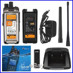 Radioddity GD-55 10W DMR IP67 Digital Two-way Radio UHF 2800mAh Walkie Talkie