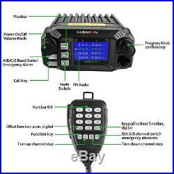 Radioddity QB25 Pro Car Mobile Radio Transceiver VHF/UHF Quad Band 25W, Antenna
