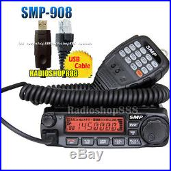 SMP-908 mobile radio VHF DTMF 136-174 Mhz truck transceiver + USB Cable