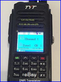 TYT MD-390 GPS DMR 136-174Mhz VHF Two Way Radio Free Software & cable US Seller