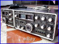 Vintage Uniden 2020 Ham Radio Transceiver, External VFO 8010, Mic NICE WORKING