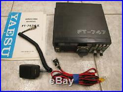 YAESU FT-747gx HF HAM RADIO TRANSCEIVER With MH-1 MICROPHONE 100 WATT ALL MODE