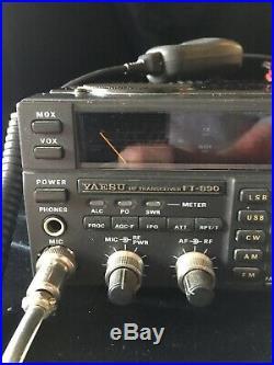 yaesu ft-890 100 watt all mode hf transceiver with autotuner mic and power  cord