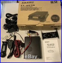 Yaesu FT 857D Radio HF/VHF/UHF Tranceiver