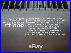 Yaesu Ft-890 100 Watt All Mode Hf Transceiver With Mars Mod